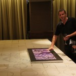 Wall Mural Model & scaled tiles layout