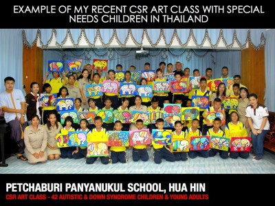 Recent CSR Class with  Special Needs Children in Thailand