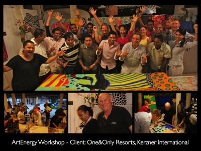 ArtEnergy Workshop- Client: One&Only Resorts, Kerzner International